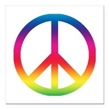 "Peace Symbol Square Car Magnet 3"" x 3"""