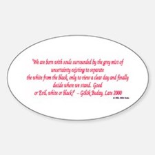 Quotable Oval Decal