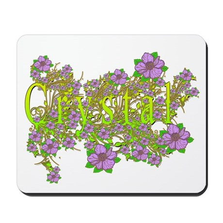 Crystal Floral Lavender Flowers yellow Gold Mousep