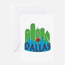 Dallas Skyline NewWave Primary Greeting Card