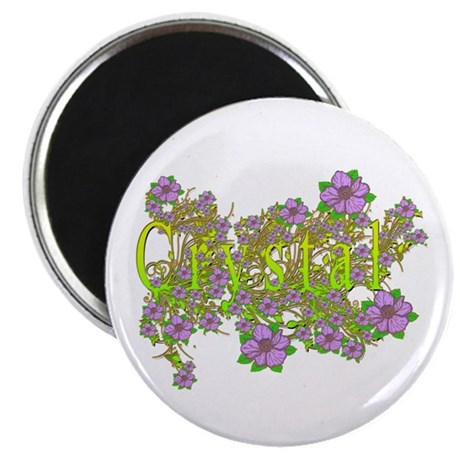 """Crystal Floral Lavender Flowers yellow Gold 2.25"""""""