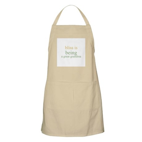 bliss is being a great grandm BBQ Apron