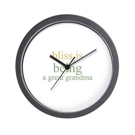 bliss is being a great grandm Wall Clock