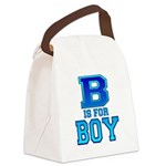 B is for Boy Canvas Lunch Bag