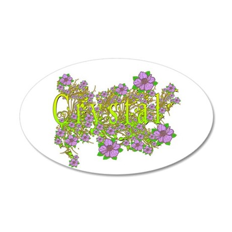 Crystal Floral Lavender Flowers yellow Gold 35x21