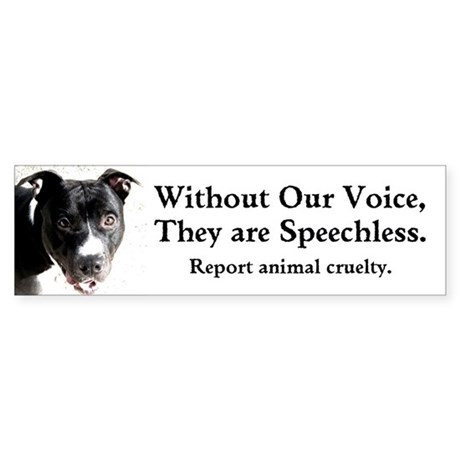 """""""Without Our Voice"""" bumper sticker"""