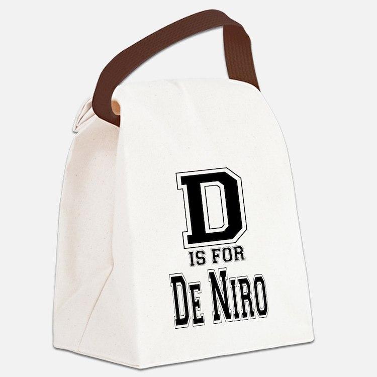D is for De Niro Canvas Lunch Bag