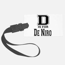 D is for De Niro Luggage Tag