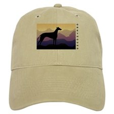 greyhound dog purple mountains Baseball Cap