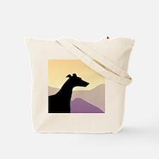 greyhound dog purple mountains Tote Bag