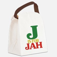 J is for Jah.png Canvas Lunch Bag