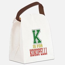 K is for Kokopelli Canvas Lunch Bag