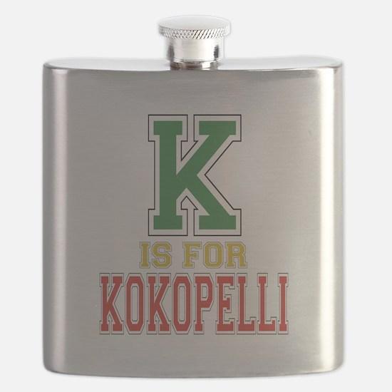 K is for Kokopelli Flask