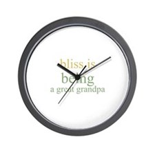 bliss is being a great grandp Wall Clock