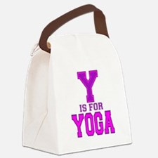 Y is for Yoga Canvas Lunch Bag