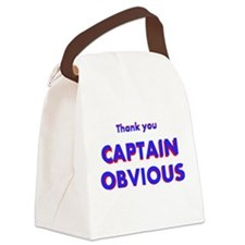 Thank you Captain Obvious Canvas Lunch Bag