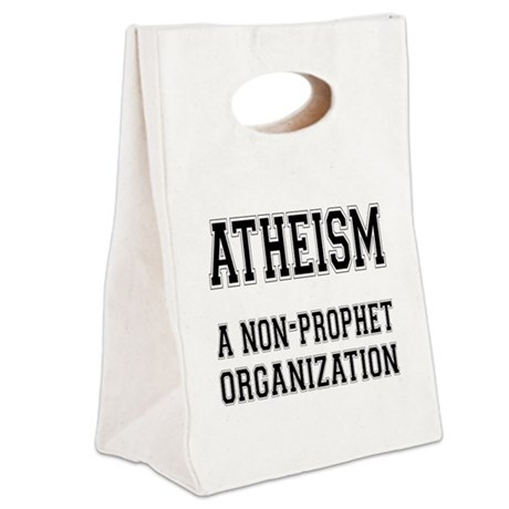 Atheism.png Canvas Lunch Tote