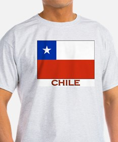 Chile Flag Stuff Ash Grey T-Shirt