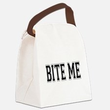 Bite Me.png Canvas Lunch Bag