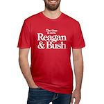 Reagan & Bush 1980 Men's Fitted T-Shirt (dark)