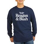 Reagan & Bush 1980 Long Sleeve Dark T-Shirt