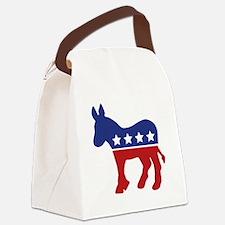 demdonkey2.jpg Canvas Lunch Bag