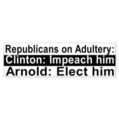 Republicans on Adultery Bumper Bumper Sticker