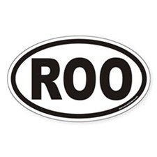 ROO Euro Oval Decal