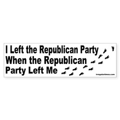 Republican Party Left Me Bumper Bumper Sticker