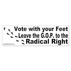 Leave GOP to the Right Bumper Bumper Sticker