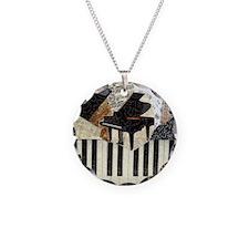 Grand Piano Necklace Circle Charm