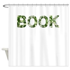Book, Vintage Camo, Shower Curtain