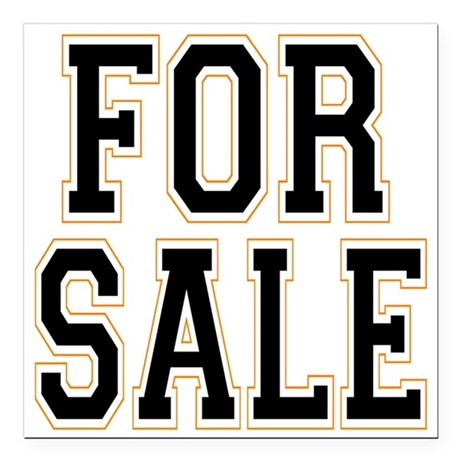 "For Sale.png Square Car Magnet 3"" x 3"""