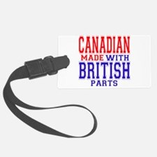 Canadian Made British Parts.png Luggage Tag