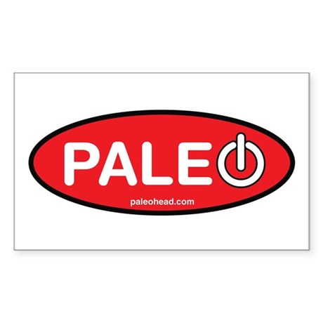 Paleo Power Oval Sticker (Rectangle 10 pk)