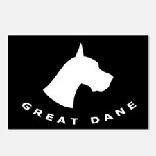 b&w great dane dog Postcards (Package of 8)