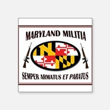 "MARYLAND MILITIA Square Sticker 3"" x 3"""