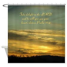 Sky Delight/Psalm 37:4 Shower Curtain