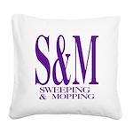 4-3-S&M.png Square Canvas Pillow