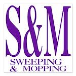 4-3-S&M.png Square Car Magnet 3