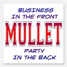 "3-Mullet.png Square Car Magnet 3"" x 3"""