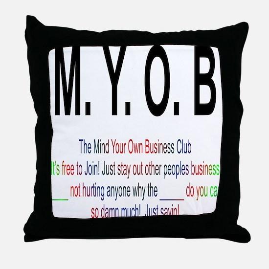 M.YO.B Club Throw Pillow