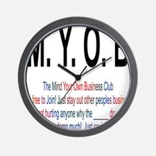 M.YO.B Club Wall Clock
