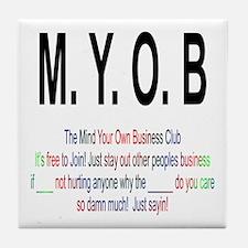 M.YO.B Club Tile Coaster