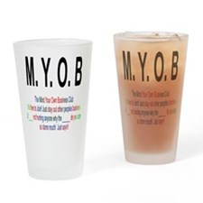 M.YO.B Club Drinking Glass