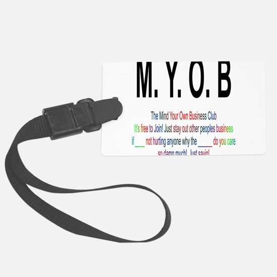 M.YO.B Club Luggage Tag