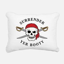 Surrender Yer Booty Rectangular Canvas Pillow