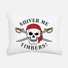 Shiver Me Timbers! Rectangular Canvas Pillow