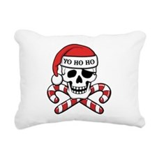 Christmas Pirate Rectangular Canvas Pillow