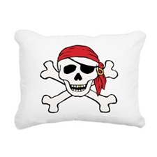 Funny Pirate Rectangular Canvas Pillow